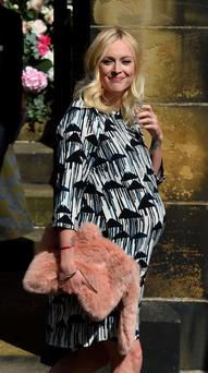 Former Radio 1 DJ Fearne Cotton who has given birth to a baby girl. Photo: Owen Humphreys/PA Wire