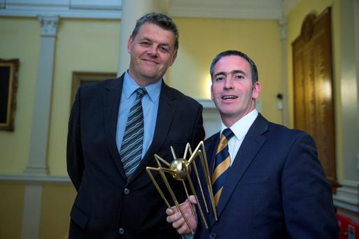 9/9/15 Pictures at the launch of the Spiders Fusion Awards at the Royal College of Physicians were: Minister Damien English and Robert Pitt, Chief Excutive INM. Picture:Arthur Carron