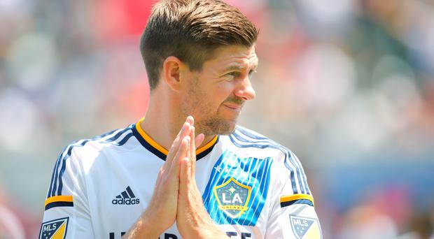LA Galaxy's Steven Gerrard (Photo by Matthew Ashton - AMA/Getty Images)