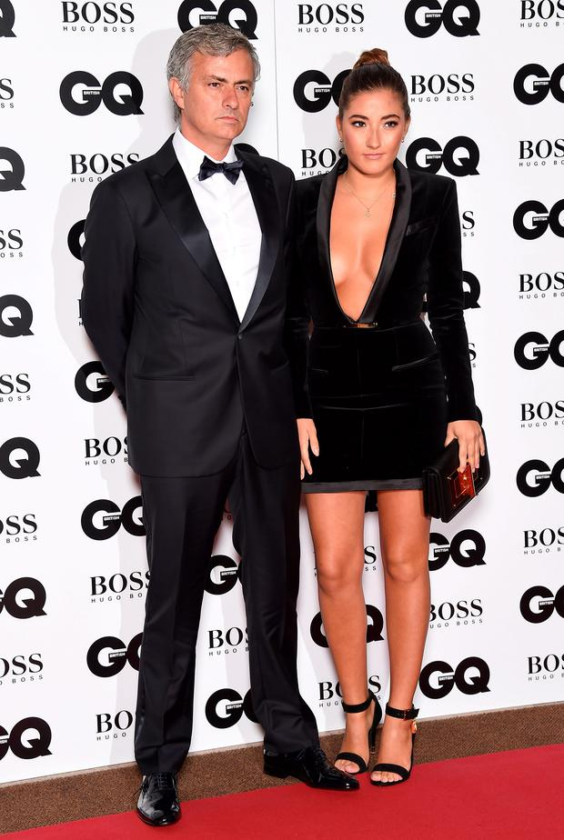 Jose Mourinho with daughter Matilde attends the GQ Men Of The Year Awards at The Royal Opera House