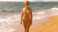 Kathryn Thomas shared this bikini shot on a recent holiday