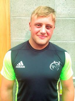 Ben Betts plays as a prop for Young Munster