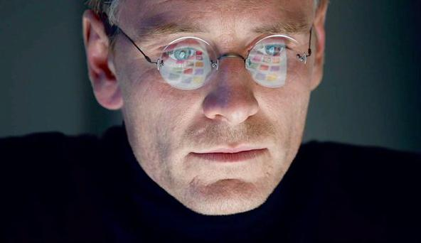 Leading man: Michael Fassbender as the Apple founder in new movie Steve Jobs