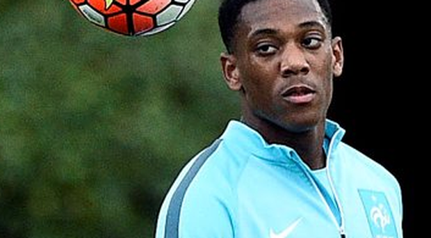Anthony Martial will be at Old Trafford tomorrow for the visit of Liverpool