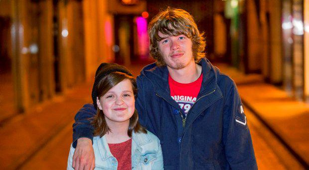 Sarah-Jane Curtis (18) is bringing homeless man Adam Skinner (21) to her Debs.