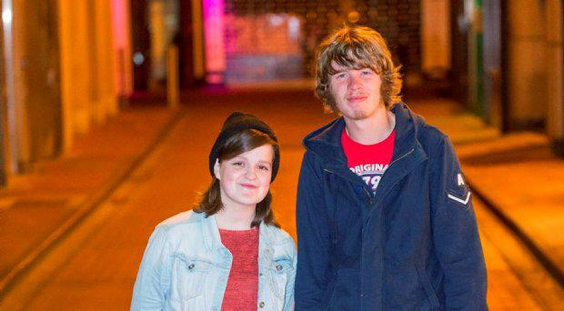 Sarah-Jane Curtis (18) and Adam Skinner (21)
