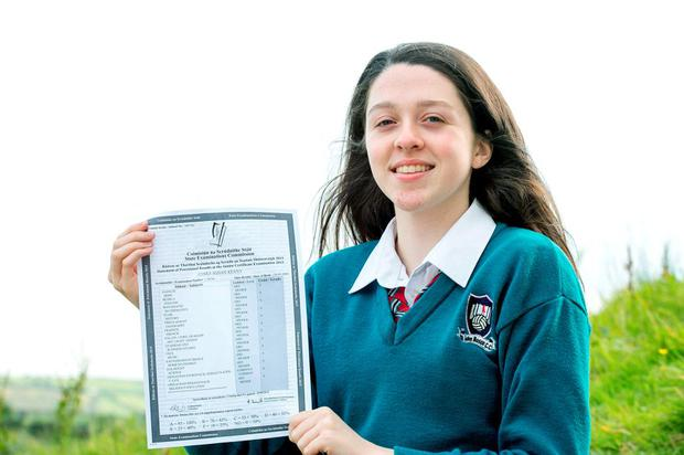 Ciara Kenny who received 12 As in her Junior Cert at John Bosco Community College Kildysart Co Clare pictured at her home in Coolmeen near Kilrush Co Clare