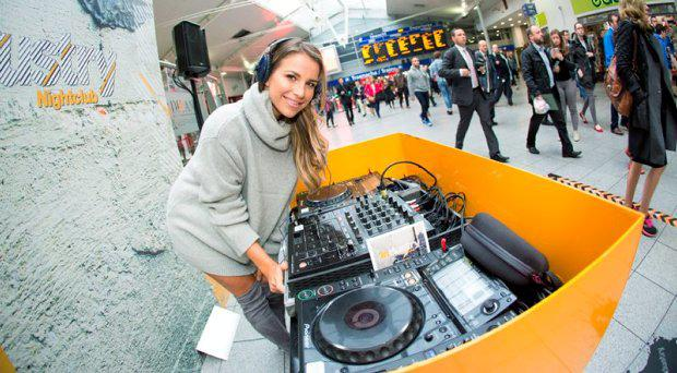 Vogue Williams promoting the nightclub at Connolly Station