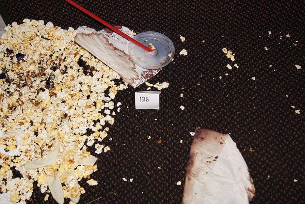Evidence photographs from inside the movie theatre (Photo: Arapahoe County District Attorney's Office )