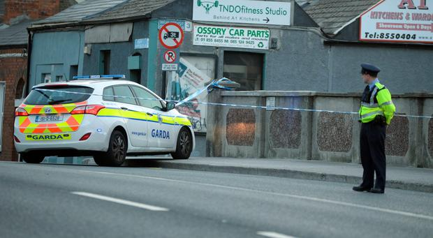 The scene at North Strand Road Dublin this morning. Pic: Justin Farrelly.