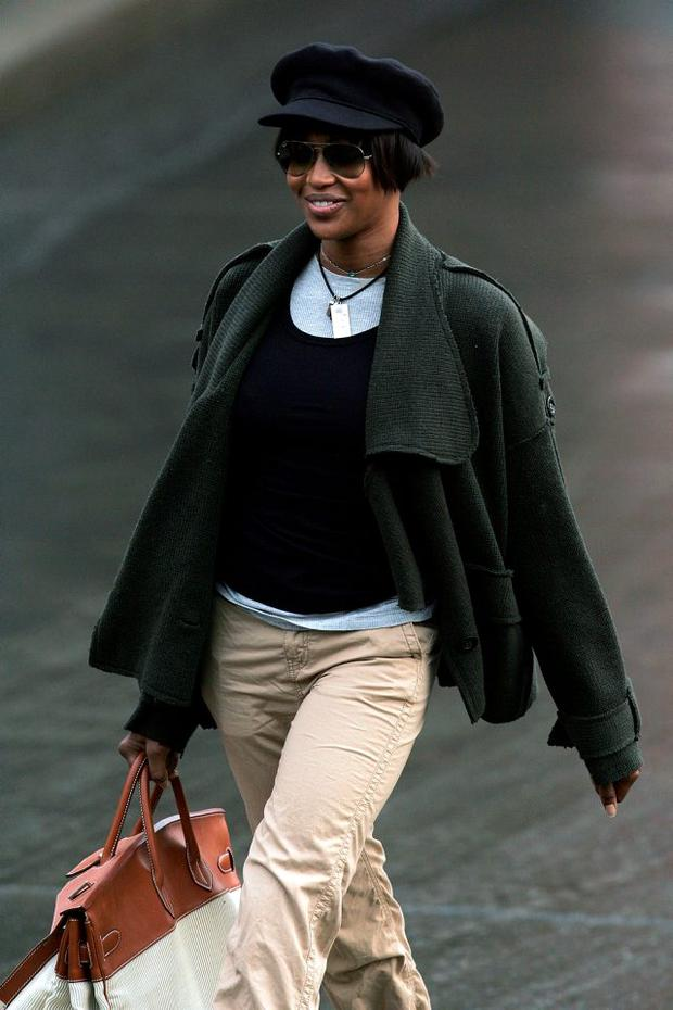 Naomi Campbell arrives at the New York City Sanitation Department Depot in 2007