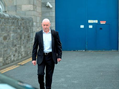 Anthony Lyons leaving Arbour Hill Prison after being released. Arbour Hill Prison, Arbour Hill, Dublin. Picture:Caroline Quinn