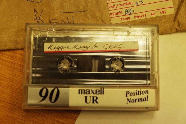The 'Reggie Kray to Greg' tape that Vincent received at the hospital in 1995 (Photo: RTE Radio One Liveline)