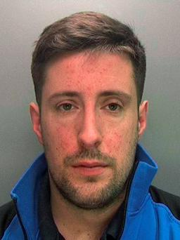 West Midlands Police undated handout photo of Samuel Bishop who has been jailed after he changed his ex-girlfriend's Facebook profile picture to a sexually graphic image more than four years after they broke up. West Midlands Police/PA Wire