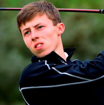 England's Matt Fitzpatrick came agonisingly close to recording the first-ever 59 on the European Tour on Friday as he charged into contention in the KLM Open