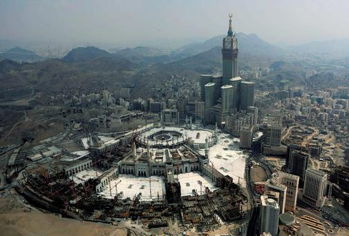 The Muslim holy city of Mecca, Saudi Arabia. Photo: AP
