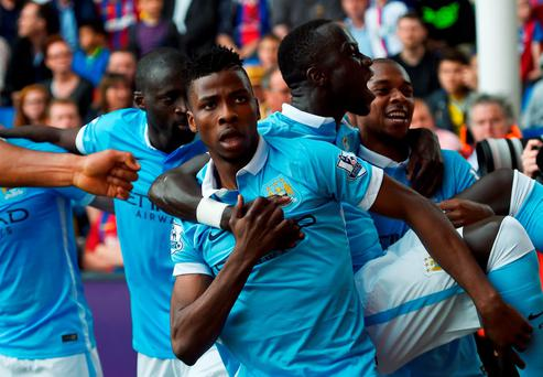 Kelechi Iheanacho of Manchester City celebrates