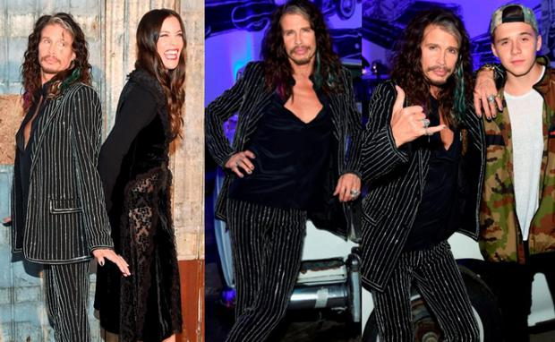 Steven Tyler at New York Fashion Week is all of our dads at New York Fashion Week