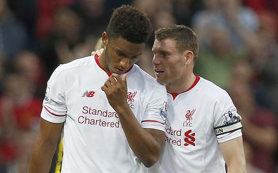 New era: Joe Gomez and James Milner reflect on defeat to Manchester United at Old Trafford
