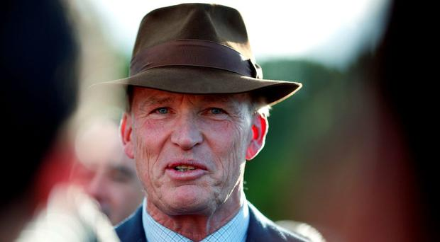 John Gosden looks on at Leopardstown racecourse
