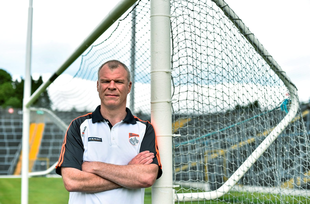 29 June 2015; Kerry goalkeeping coach and selector Diarmuid Murphy poses for a portrait before squad training. Fitzgerald Stadium, Killarney, Co. Kerry. Picture credit: Brendan Moran / SPORTSFILE