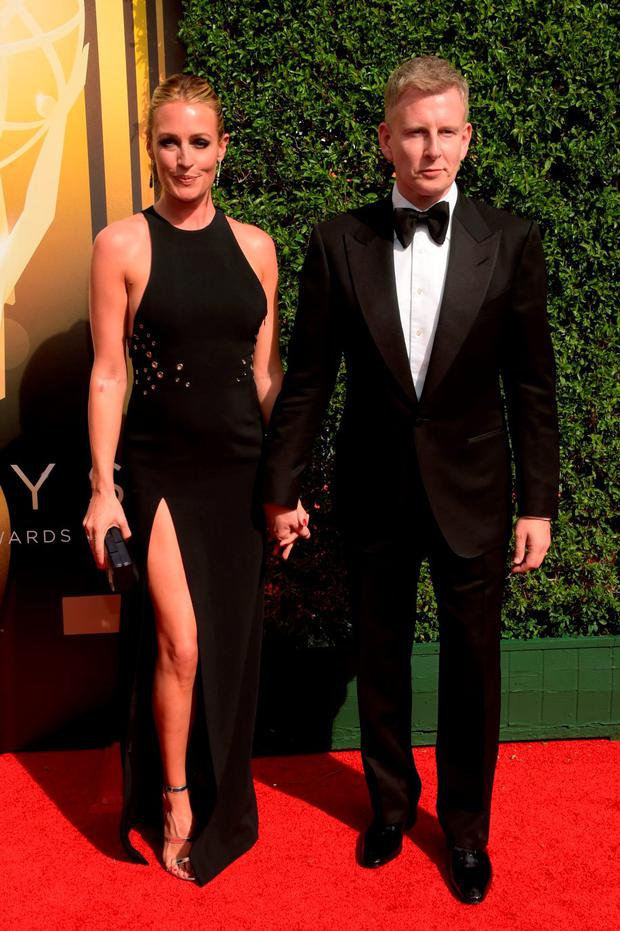 TV personality Cat Deeley (L) and comedian Patrick Kielty attend the 2015 Creative Arts Emmy Awards at Microsoft Theater on September 12, 2015 in Los Angeles, California. (Photo by Jason Kempin/Getty Images)