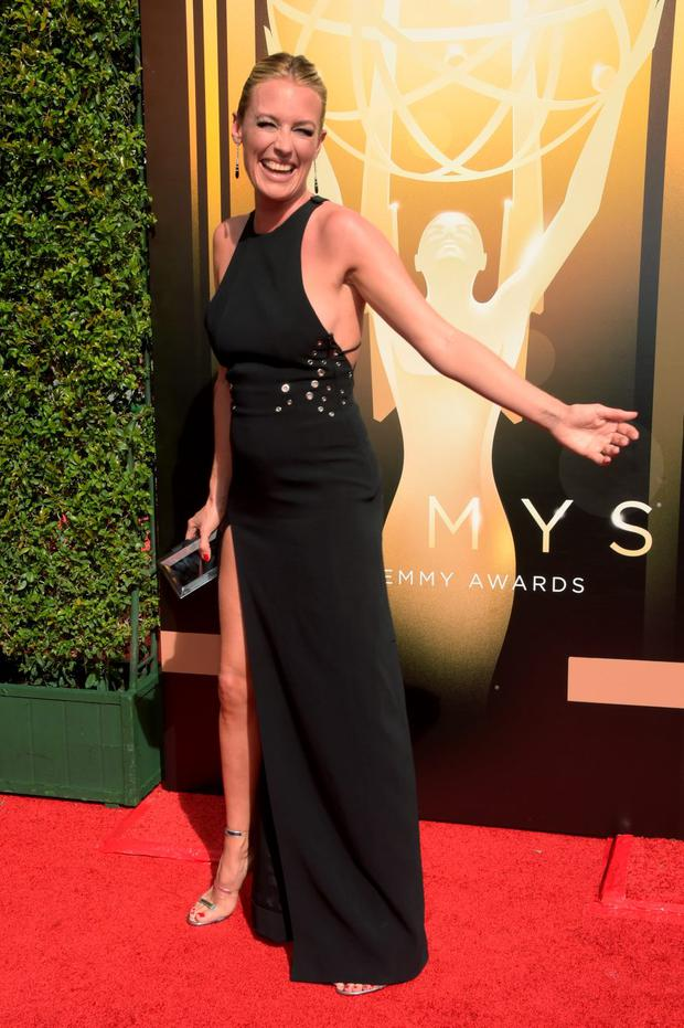 TV personality Cat Deeley attends the 2015 Creative Arts Emmy Awards at Microsoft Theater on September 12, 2015 in Los Angeles, California. (Photo by Jason Kempin/Getty Images)