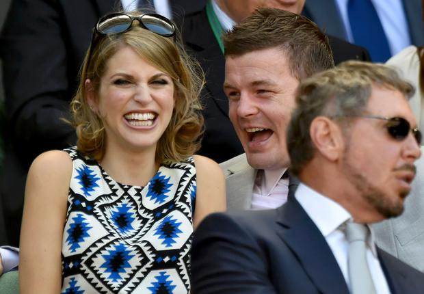 Amy Huberman and husband Brian O'Driscoll