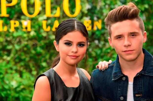 Actress Selena Gomez and Brooklyn Beckham attend the Polo Ralph Lauren fashion show during Spring 2016 New York Fashion Week