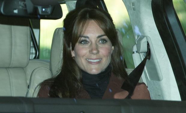 The Duke and Duchess of Cambridge, Kate Middleton (and her new hair) and Prince William go the Crathie Kirk for Sunday morning prayers in Scotland. Picture: Splash News