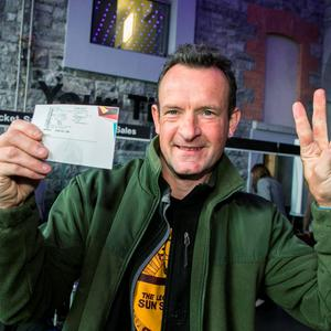 Greg Fitzimons Whitehall Dublin U2 fan with his tickets at the 3Arena