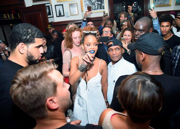 Rihanna attends the Rihanna Party at The New York Edition on September 10, 2015 in New York City. (Photo by Michael Loccisano/Getty Images for EDITION)