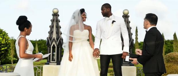 Gabrielle Union and Dwayne Wade in their wedding video