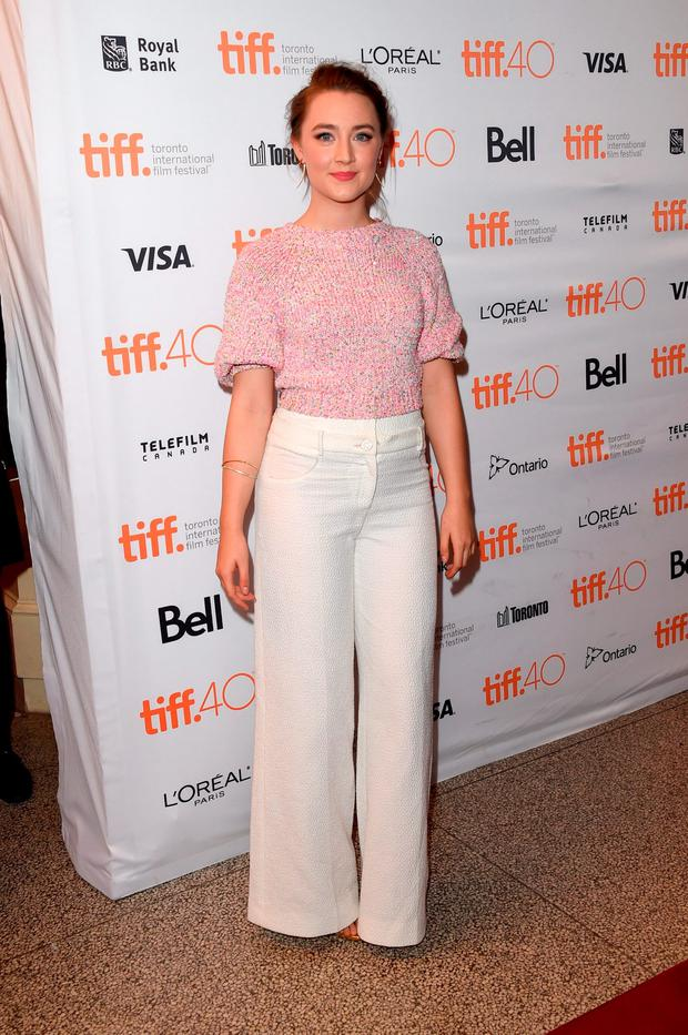 Actress Saoirse Ronan attends the