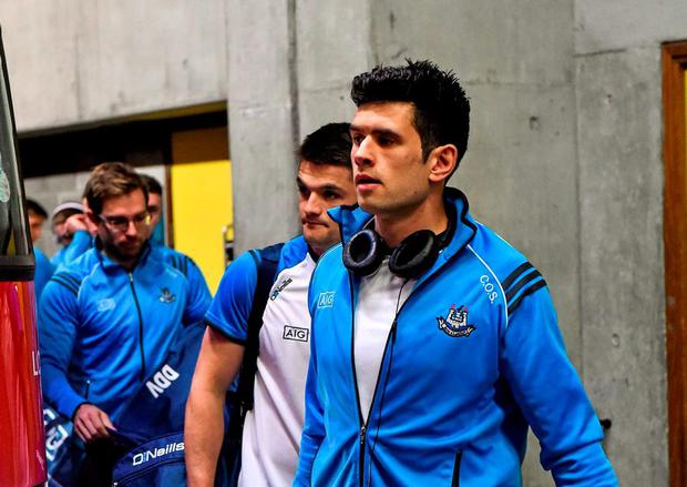 Cian O'Sullivan, Dublin, arrives ahead of the game. GAA Football All-Ireland Senior Championship Semi-Final Replay, Dublin v Mayo. Croke Park, Dublin. Picture credit: Ray McManus / SPORTSFILE