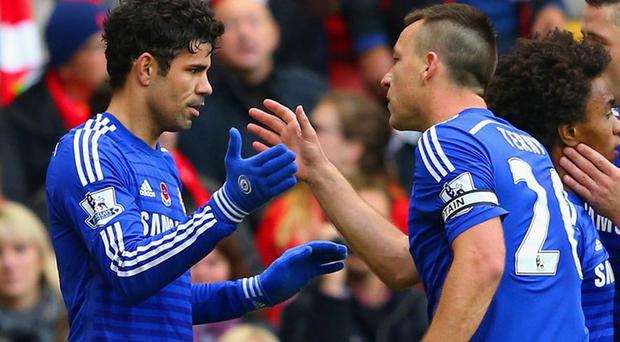 Diego Costa and John Terry