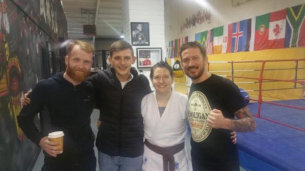 Carlos Wolfe, second from the left, alongside Paddy Holohan, Aisling Daly and John Kavanagh