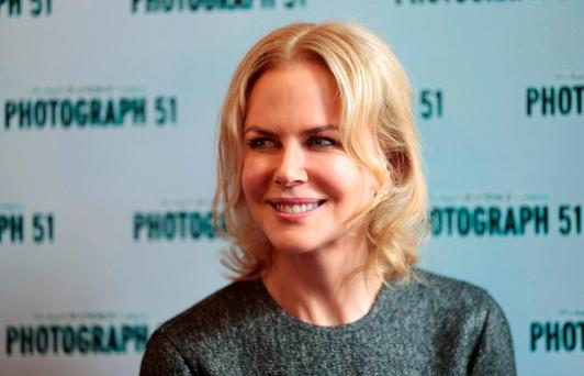 Photograph 51 cast member Nicole Kidman poses for a photograph at the Noel Coward Theatre