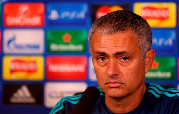Chelsea manager Jose Mourinho during the press conference at Cobham