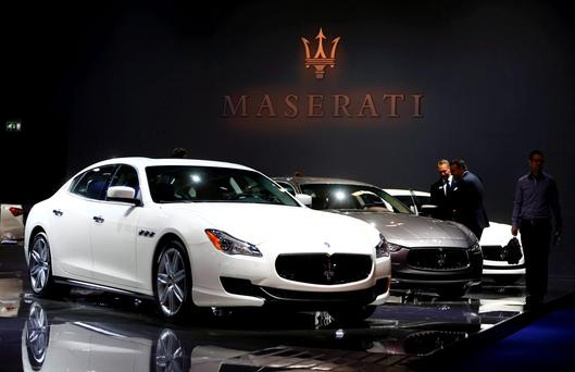 Maserati Quattroporte cars are pictured during the media day at the Frankfurt Motor Show (IAA) in Frankfurt, Germany, September 15, 2015. REUTERS/Kai Pfaffenbach