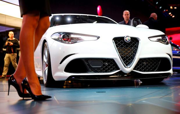 An Alfa Romeo Giulia car is pictured during the media day at the Frankfurt Motor Show (IAA) in Frankfurt, Germany, September 15, 2015. REUTERS/Kai Pfaffenbach