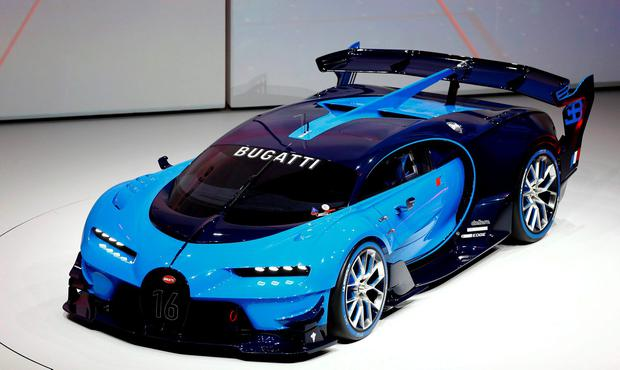Bugatti Vision concept car is presented during the Volkswagen group night ahead of the Frankfurt Motor Show (IAA) in Frankfurt, Germany, September 14, 2015. REUTERS/Kai Pfaffenbach