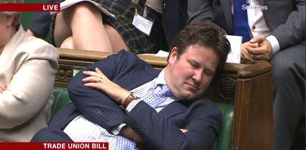 BBC has apologised to MP Alec Shelbrooke for claiming he was 'resting his eyes' during debate in Westminster Pic: BBC Twitter