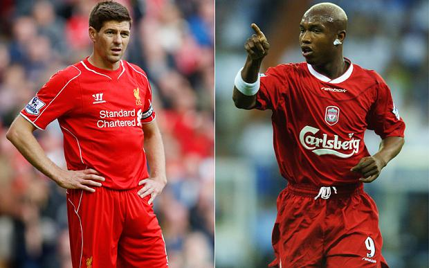 No love lost: El Hadji Diouf and Steven Gerrard have clashed over their time together at Liverpool