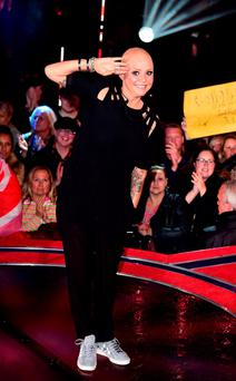 Gail Porter is evicted from the Big Brother house at Elstree Studios, Borehamwood Credit: Ian West/PA Wire