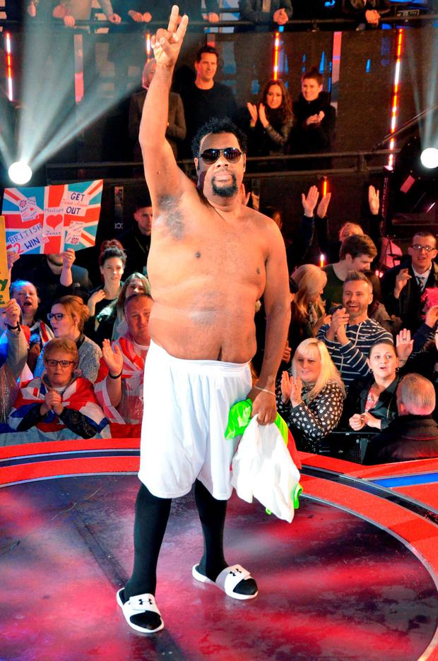 Fatman Scoop is evicted from the Big Brother house at Elstree Studios, Borehamwood. PRESS ASSOCIATION Photo. Picture date: Tuesday September 15, 2015. Photo credit should read: Ian West/PA Wire