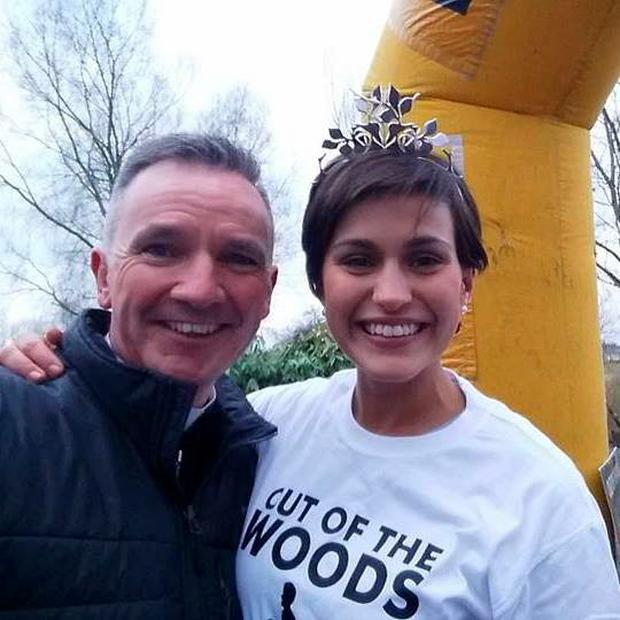 Fr John Kenny with former Rose of Tralee Maria Walsh Pic: Fr John Kenny/Facebook