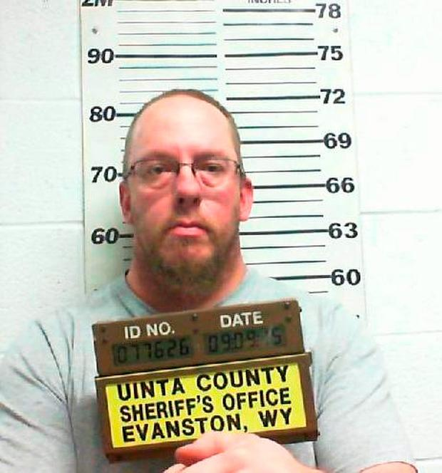 In this Tuesday, Sep. 15, 2015, photo released by the Uinta County Sheriff's Office, shows Joseph M. Richardson in in Evanston, Wyo. (Uinta County Sheriff's Office via AP)