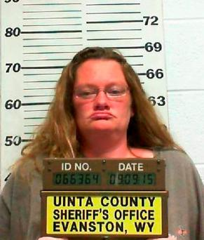 In this Tuesday, Sep. 15, 2015, photo released by the Uinta County Sheriff's Office, shows Paulette L. Richardson in in Evanston, Wyo. (Uinta County Sheriff's Office via AP)