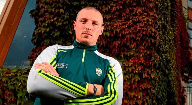 Kerry's Kieran Donaghy during a press evening ahead of their GAA Football All-Ireland Senior Championship Final with Dublin